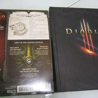 Diablo III strategy guide with limited edition Sculptured metal book mark