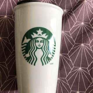 Starbucks Glass with slide spill proof cover