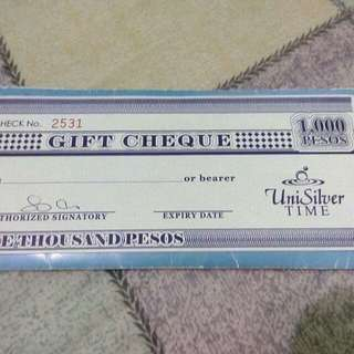 UniSilver Gift Certificate