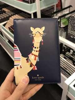 Kate Spade Camel Imogene spice things up Passport holder
