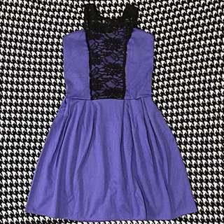Blue Violet Cocktail Dress