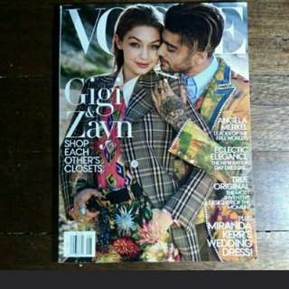 Vogue Gigi and Zayn Magazine Cover