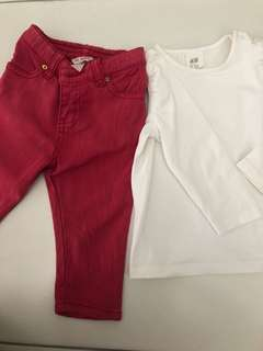 Pink Poney Jeans with White H&M Tshirt
