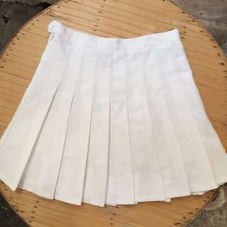 AA Inspired Tennis Skirt White