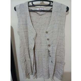 Sleeveless Cardigan or Cover-up