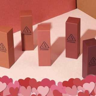 Vday sale full size 3CE mood recipe Lipstick