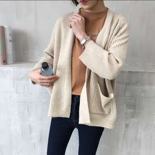#796 korean oversized knitted sweater cardigan
