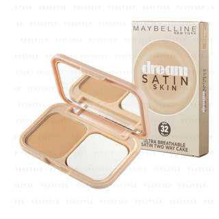 <FREE DELIVERY> Maybelline New York Dream Satin Skin Ultra Breathable Two Way Foundation Flawless Finish Cake Powder In 01 Nude Beige