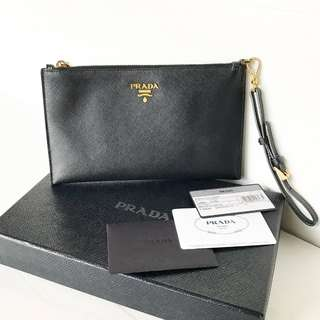 Authentic Prada Saffiano Clutch