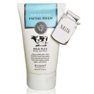 Beauty Buffet SCENTIO Milk Plus Whitening Facial Foam