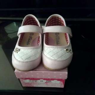 Baby girl shoe Pink and white size 24