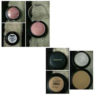 Preloved make up Maybelline blush on & Purbasari matte powder