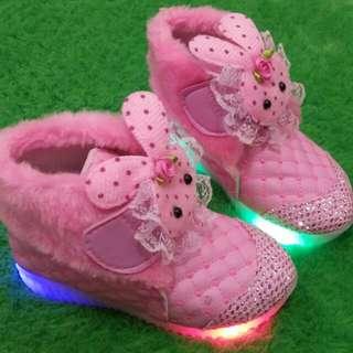 Sepatu boots anak perempuan led -sepatu led anak perempuan
