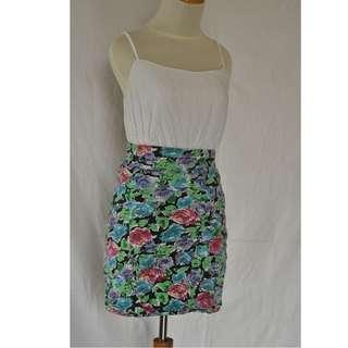 Cotton On: Flowery Tight Skirt