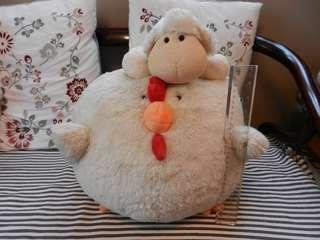 Chicken 30cm & sheep 15cm soft plush toys COLORRICH Hong Kong brand