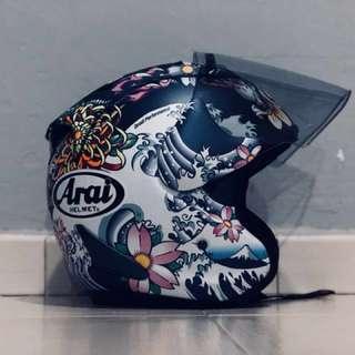 Original Arai Oriental Dark Blue Matte Size M Helmet
