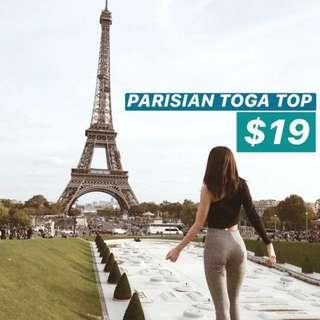 INSTOCKS Parisian Toga Top - Black