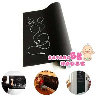 60×200cm Childrens Blackboard Vinyl Removable Wall Sticker Chalk Board Decal Hot