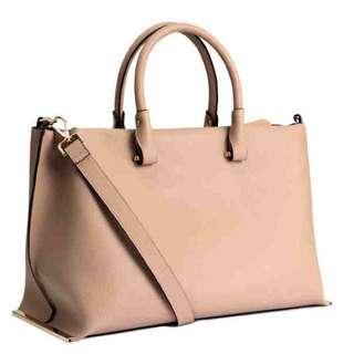 Brandnew H&M 2 Way Nude Pink HandBag Large