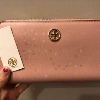 TORY BURCH粉紅色銀包 95%new