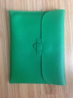 Green Leather Tablet Holder