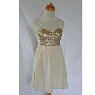 H&M Gold Cute Dress