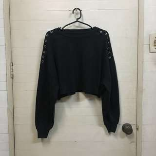 AS SEEN ON BELLA HADID: Penshoppe black cropped sweater SIZE S BRAND NEW