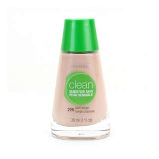 <FREE DELIVERY> Covergirl USA Sensitive Skin Clean Acne Heal Flawless Finish Liquid Foundation in Shade Buff Beige