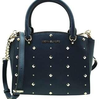 美國 Michael Kors Women's Ellis Small Convertible Satchel Handbag Crossbody