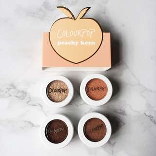 Colourpop Peachy Keen Super Shock Shadow Collection