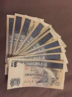 10 bird note series $1
