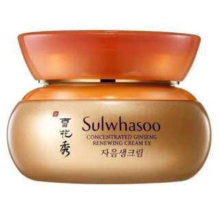 ❗️FREE NM *11ml❗️Sulwhasoo Concentrated Ginseng Renewing Cream EX