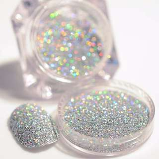 Nail glitter and dust