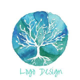 Watercolor logo design