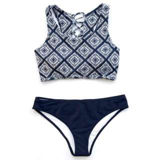 Serapjina Tie Design Two Piece Swimwear