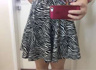 Zebra Cotton On Skirt