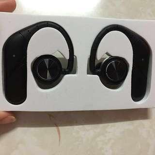 黑色無線藍芽耳機 V4.2