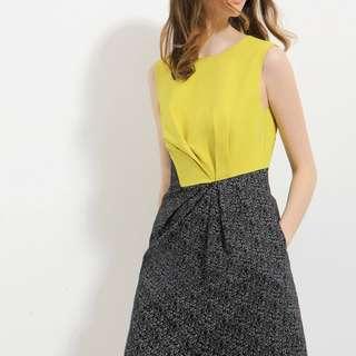 Saturday Club Contrast Sleeveless Dress