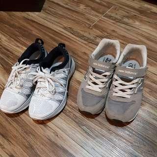 Nike flyknit+New balance 574