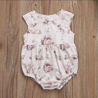 🦌Sweet Bambi Baby Girl Romper