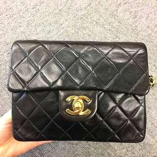 Chanel Vintage 黑色羊皮 Mini Flap 18cm