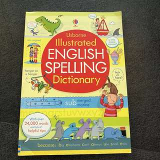 4-6Y NEW Usbourne Illustrated English Spelling Dictionary for kids