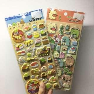 [INSTOCKS] Popout Stickers Sumiko Gurashi