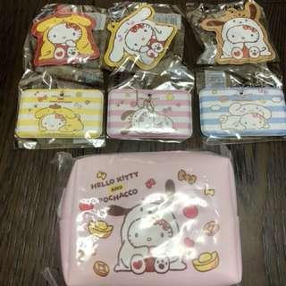 🚚 可愛化妝包(帕恰狗款)及6個行李吊牌