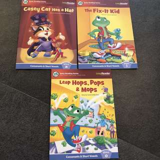 3-5Y NEW LeapReader bundle 3x books