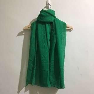 🚚 ❗免費。草綠色棉麻圍巾