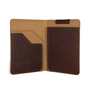 Genuine Saddleback Leather Notepad Holder (Chestnut color) - A4 Size