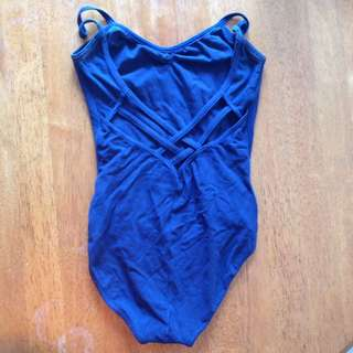 Blue leotard