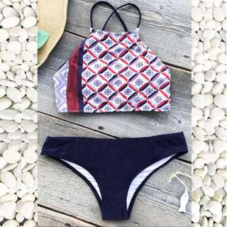 Elora Tri Colors Two Piece Swimwear