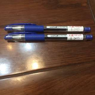 uniball signo dx 0.38mm (blue) (set of two pens)